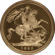 Gold Proof 1995 Half Sovereign Boxed