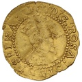 1615-6 James I Gold Halfcrown mm Tun