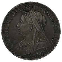 1898 Queen Victoria Silver Crown LXI