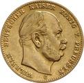 10 Mark German Wilhelm I 1872-1880