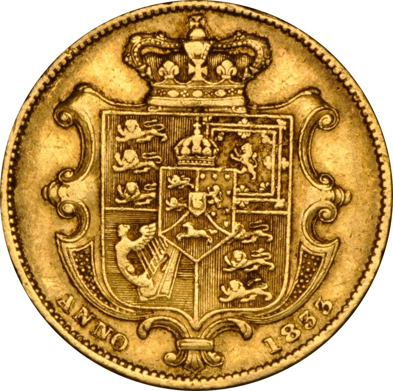 1833 Gold Sovereign - William IV NGC XF40