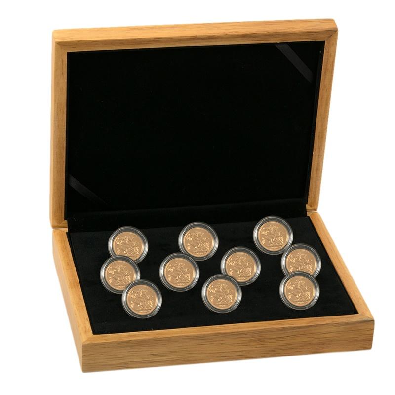 Ten 2021 Sovereign Gold Coin in Gift Box