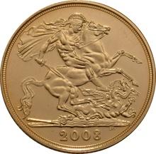 2008 Gold Sovereign - Elizabeth II Fourth Head