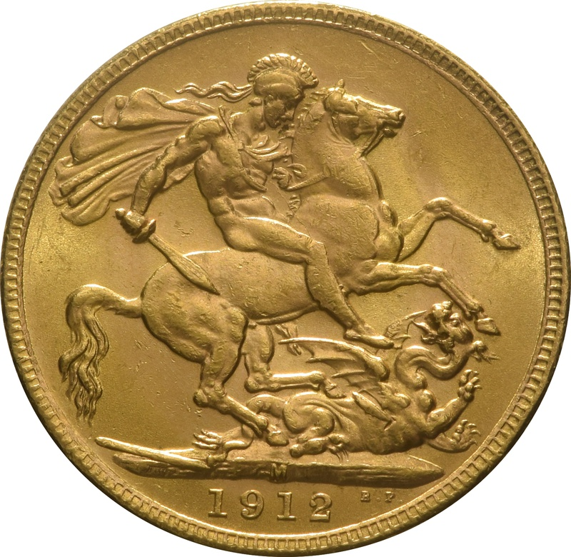 1912 Gold Sovereign - King George V - M