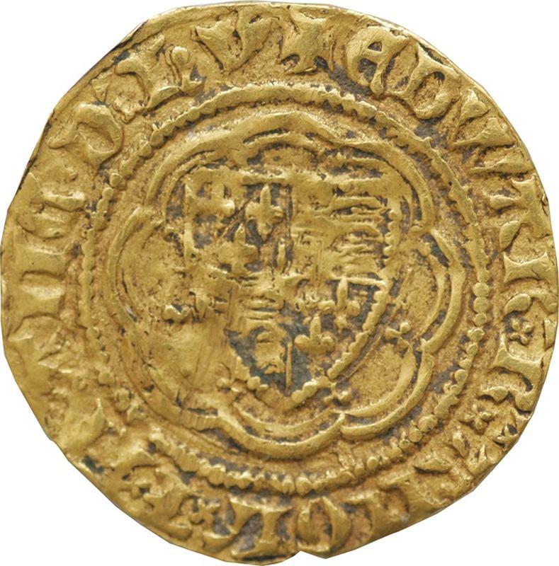 Edward III Gold Quarter Noble - Good Fine