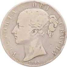 1845 Victoria Young Head Silver Crown
