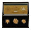 2002 Gold Proof Sovereign Three Coin Set Boxed