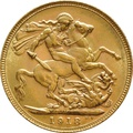 1918 Gold Sovereign - King George V - M