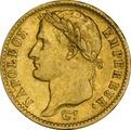 20 French Francs - Napoleon (I) Laureate Head 1807-1815