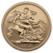 Five 2019 Sovereign Gold Coins in Gift Box