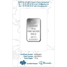 PAMP 10 Gram Silver Bar Minted