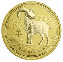 2015 1oz Australian Gold Year of the Goat Gold Coin