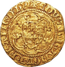 Edward III Gold Quarter Noble - Fine