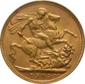 1909 Gold Sovereign - King Edward VII - P