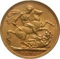 1909 Gold Sovereign - King Edward VII - P