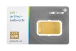 Umicore 10 Gram Gold Bar