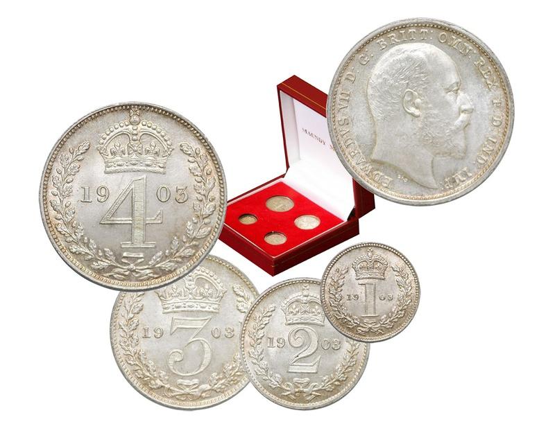 Edward VII Silver Maundy Set - Uncirculated Boxed