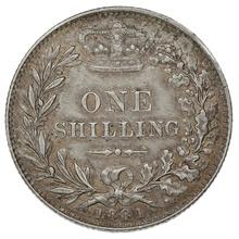 1881 Queen Victoria Silver Shilling