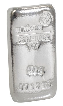 Umicore 250 Gram Silver Bullion Bar