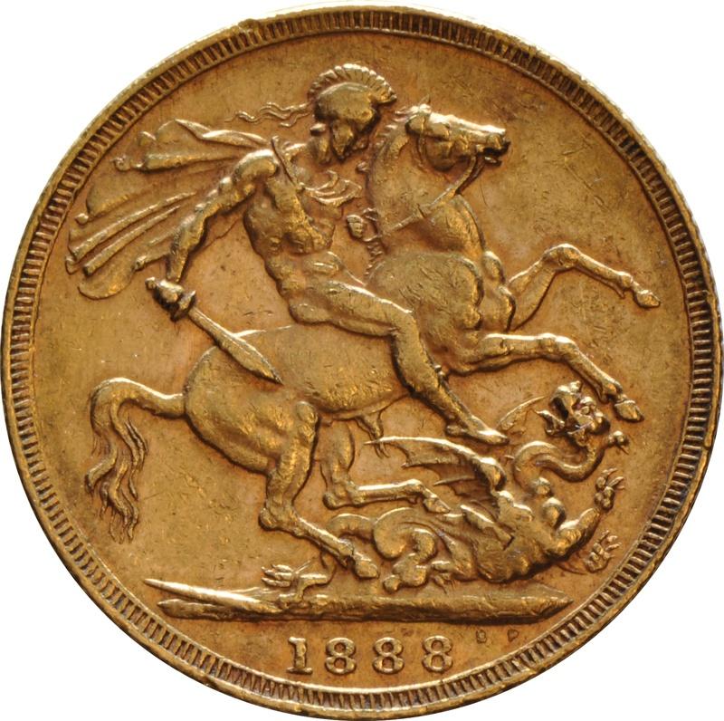 1888 Gold Sovereign - Victoria Jubilee Head - London