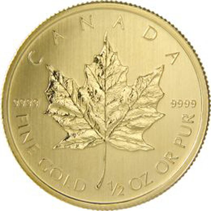 2013 Half Ounce Gold Canadian Maple