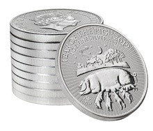 2019 Royal Mint 1oz Year of the Pig Silver Coin