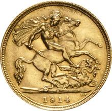 1914 Gold Half Sovereign - King George V - S