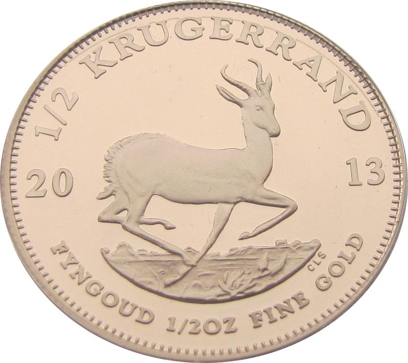 2013 Proof Half Ounce Krugerrand Gold Coin