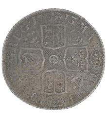 1713 Anne Shilling - Very Fine {1-17-V1713A}