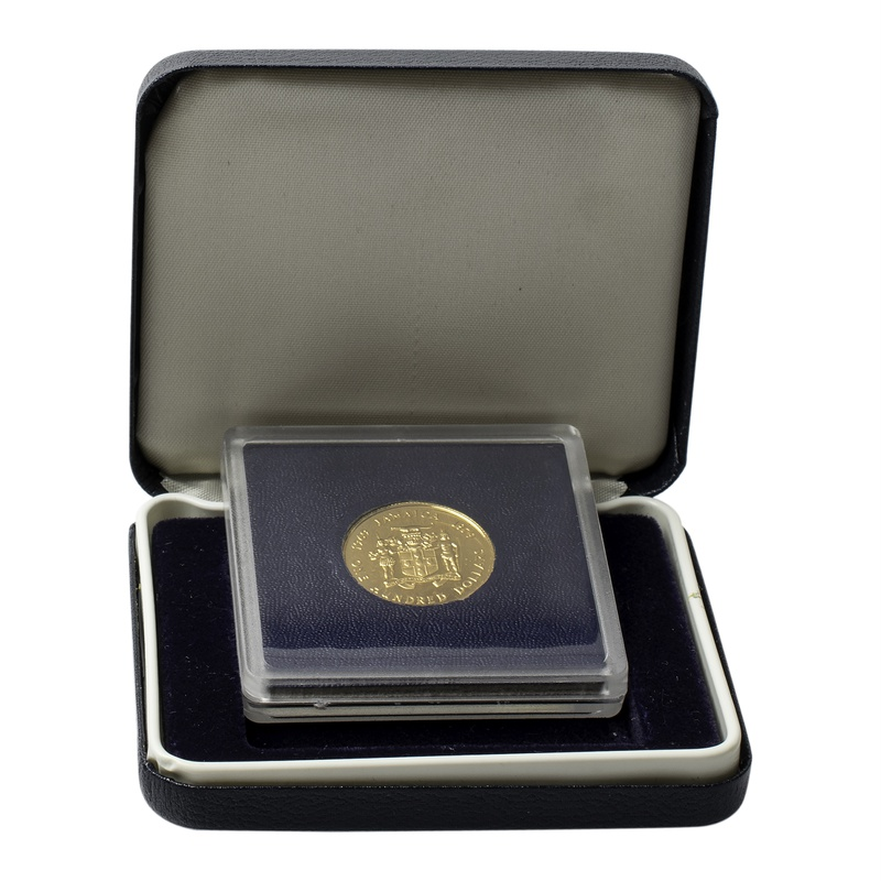 Jamaica 1979 $100 Proof Gold Coin Boxed