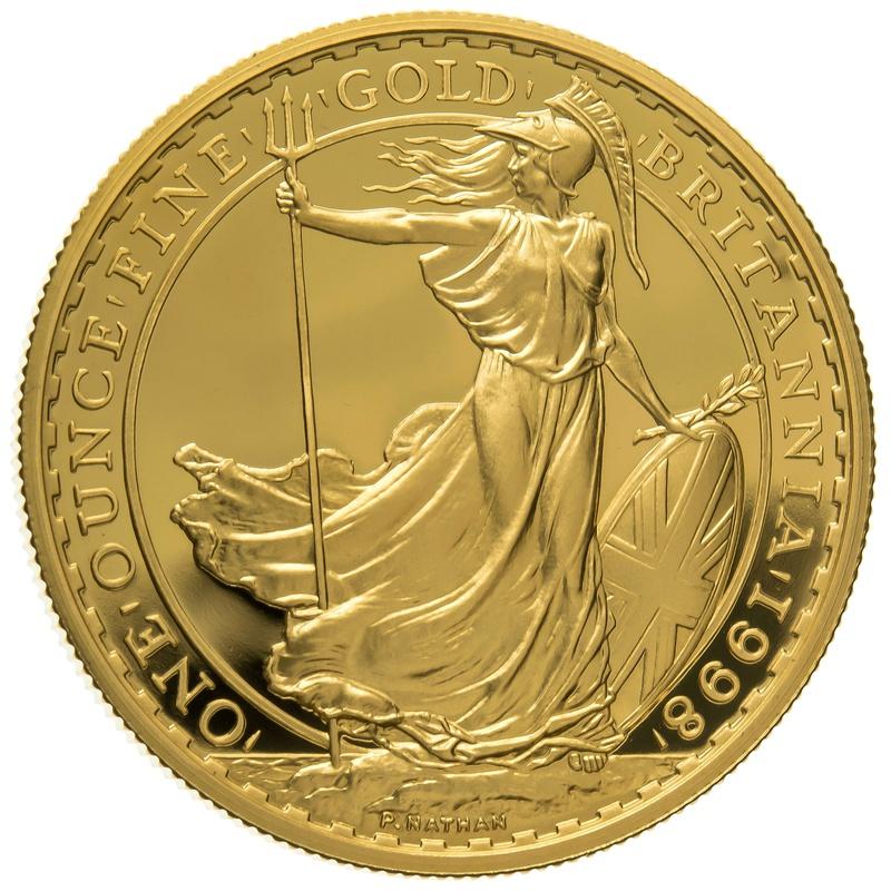 1998 One Ounce Proof Britannia Gold Coin