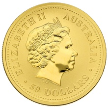 2004 Perth Mint Half Ounce Year of the Monkey Gold Coin
