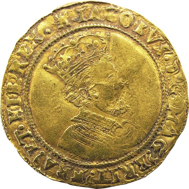 James I Half Unite Gold Coin - Fine