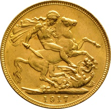 1917 Gold Sovereign - King George V - P