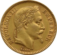 20 French Francs - Napoleon III Laureate Head Gift Boxed