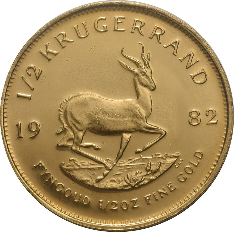 1982 Half Ounce Krugerrand Gold Coin