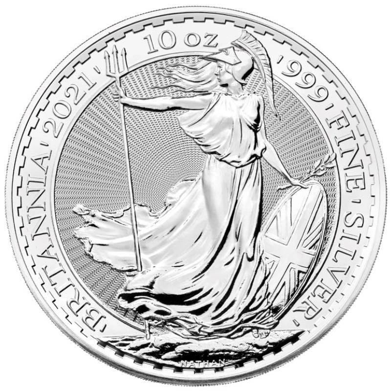 2021 Britannia 10oz Silver Coin