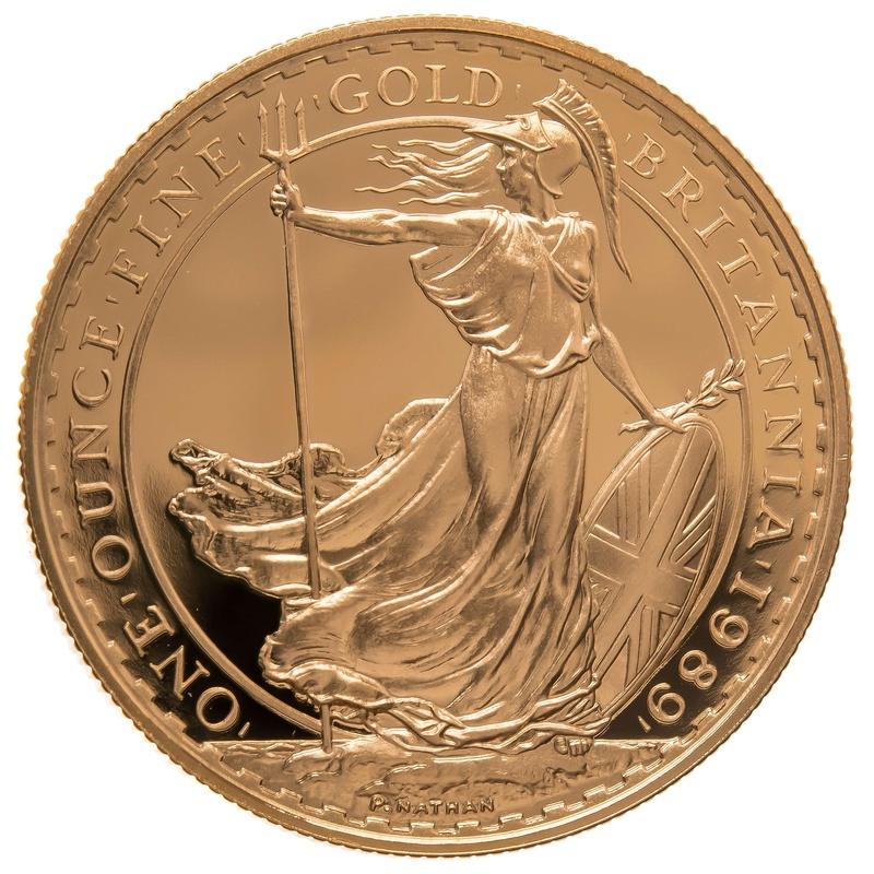 1989 One Ounce Proof Britannia Gold Coin