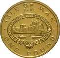 1983 Gold Proof £1 One Pound Manx Town Series - Peel