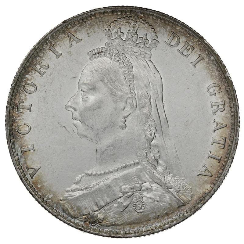 1889 Queen Victoria Silver Halfcrown