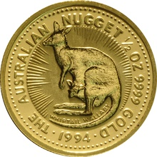 1994 Half Ounce Gold Australian Nugget