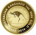 2014 1oz Gold Australian Nugget 25th Anniversary tribute 1989 - 2014