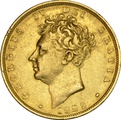 George IV Bare Head 1825 - 1830