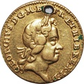 1718 George I Quarter Guinea Gold Coin
