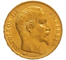 1858 20 French Francs - Napoleon III Bare Head - BB