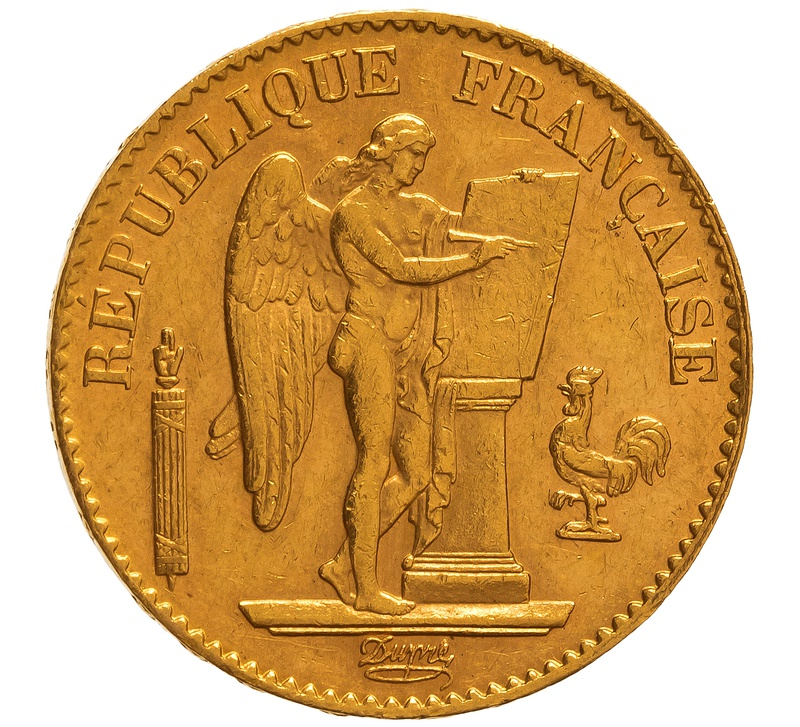 1893 20 French Francs - Guardian Angel - A