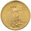 1908 $20 Double Eagle St Gaudens Gold coin Philadelphia no motto