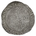 1638 Charles I Silver Shillling mm Anchor