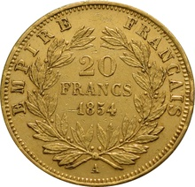 20 French Francs - Napoleon III Bare Head Gift Boxed