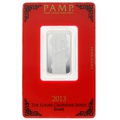 2013 PAMP 10 Gram Silver Year of the Snake Bar Minted